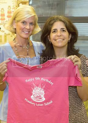 Head of School Linda MacMurray Gibbs (left), with Shereen Beydoun, head of the Lower School. Photo By: susan M. sipprelle