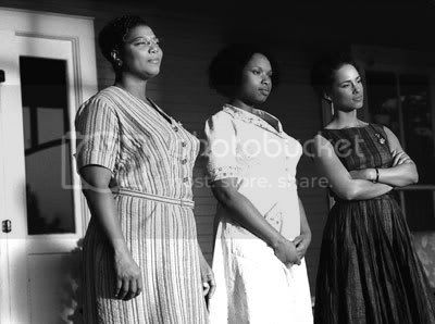 The Color of Bees: Queen Latifah, Jennifer Hudson and Alicia Keys in The Secret Life of Bees.