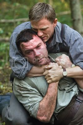 Ill kiss it and make it better: Daniel Craig and Liev Schreiber in Defiance.