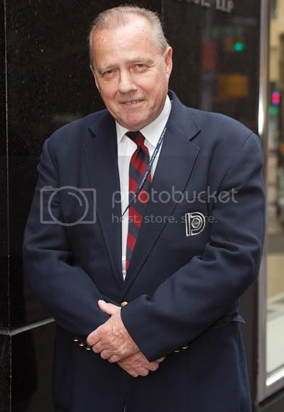 During the blackout of 2003, James Grega manned the lobby at 1155 Sixth Ave. for 72 consecutive hours. Photo by Andrew Schwartz