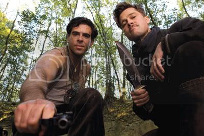 Eli Roth and Brad Pitt hate Nazis, too.