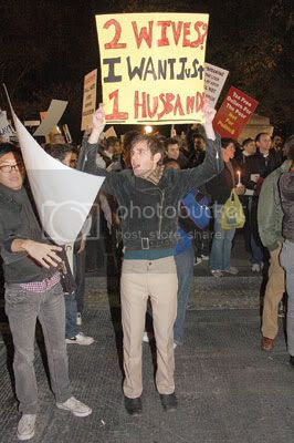 Participants at the Nov. 12 Prop. 8 protest, which attracted anywhere from 4,000 to 15,000 people. Photo By: Andrew Schwartz