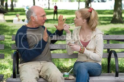 This big, I swear! Larry David stars opposite Evan Rachel Wood in Woody Allens latest.